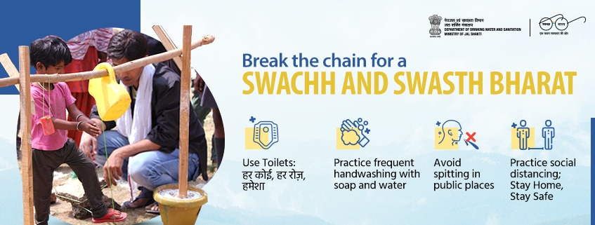 Break the chain for Swachh and Swastha Bharat
